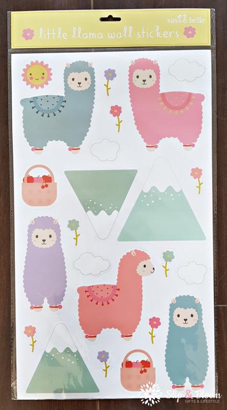 Muurstickers - alpaca
