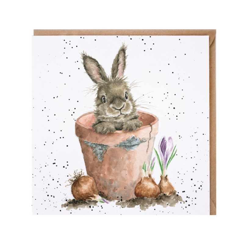 """Wrendale greeting card - """"The Flower Pot"""""""