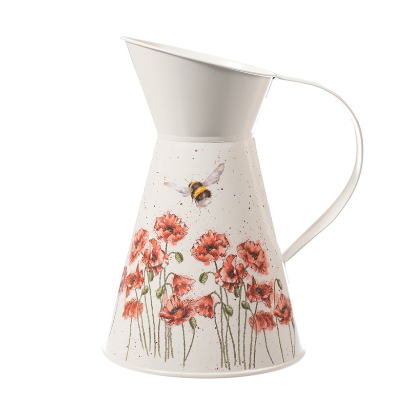 Wrendale Flower Jug - poppies & bee