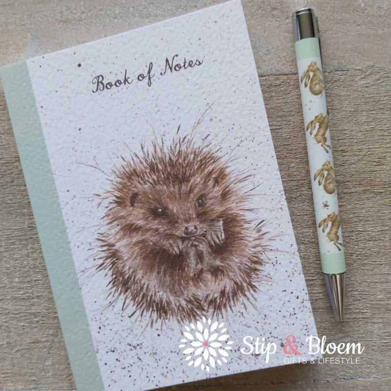 """Wrendale A6 Paperback Notebook """"Hedgehog"""""""