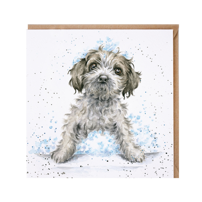 """Wrendale greeting card - """"Bubbles and Barks"""""""