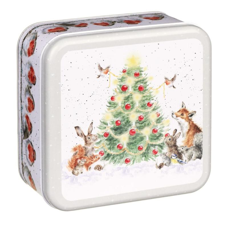 """Wrendale Christmas Tin - """"A Woodland Christmas"""""""