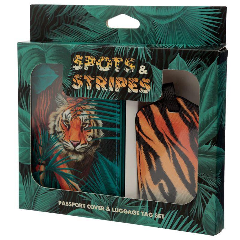Paspoorthoesje & kofferlabel - spots & stripes