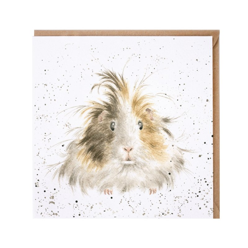 """Wrendale greeting card - """"Style Queen"""" - cavia"""