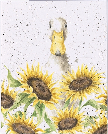 "Wrendale mini card ""Sunshine"" - eend"