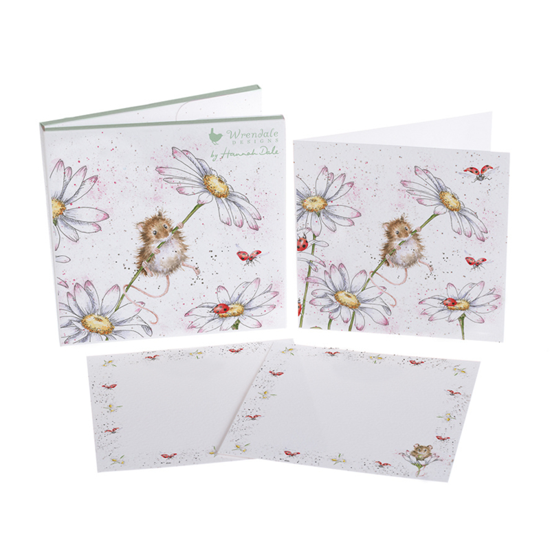 """Wrendale Notecard Pack """"Oops a Daisy"""" - muis"""