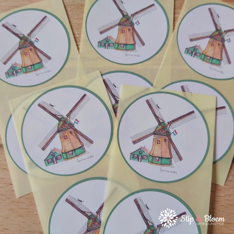 Sticker 45mm - molen - per 10