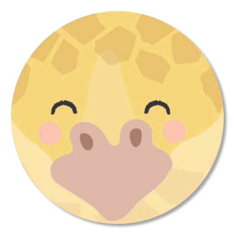 Tante Kaartje sticker 50mm - Faces - Giraffe - per 10