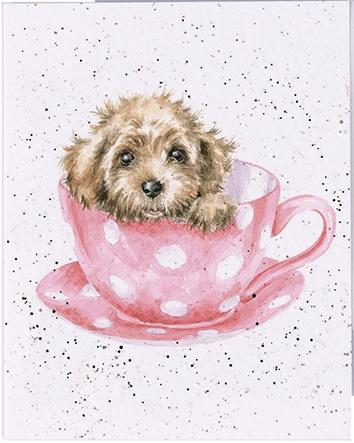 "Wrendale mini card ""Teacup Pup"" - puppy"