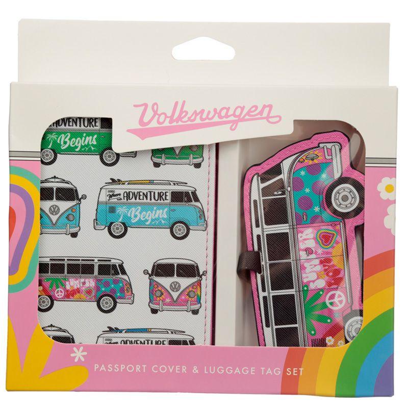 Paspoorthoesje & kofferlabel - Volkswagen summer love