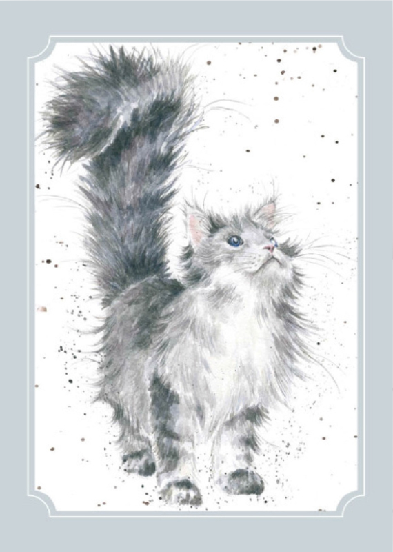 """Wrendale postcard """"Lady of the House"""" - poes"""