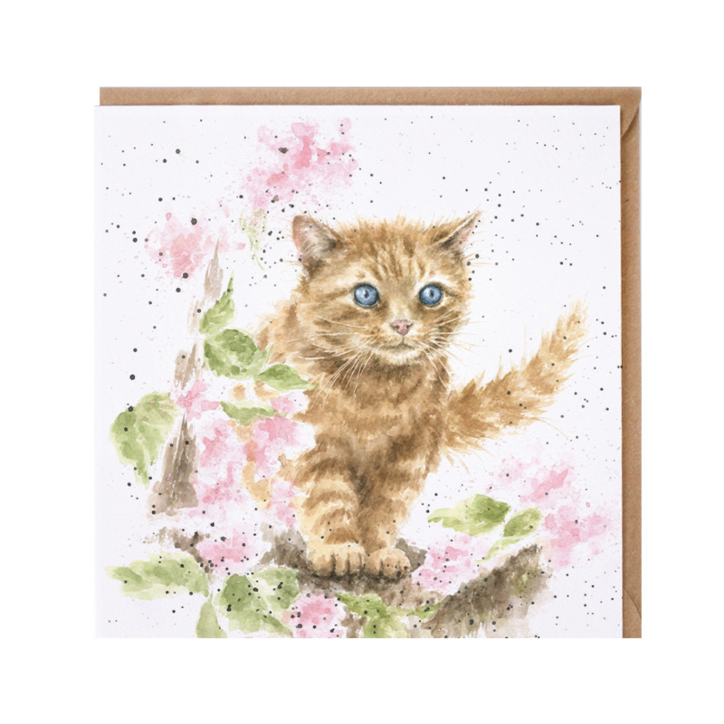"Wrendale greeting card - ""Marmalade Cat"" - kat"