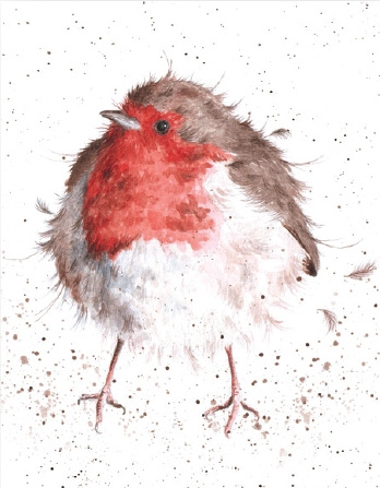 "Wrendale mini card ""Jolly Robin"" - roodborstje"
