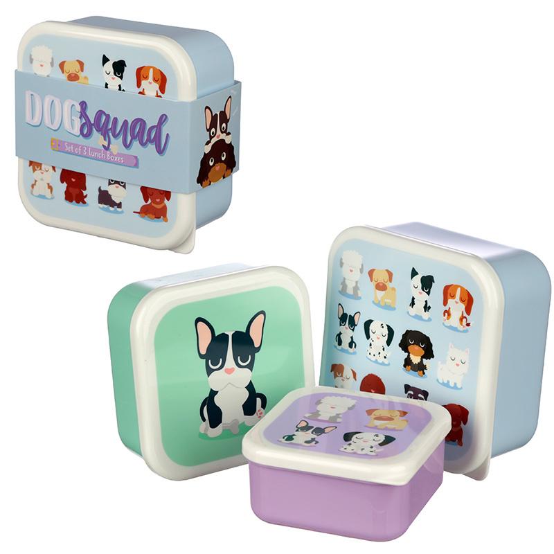 Lunchboxen set - hondjes