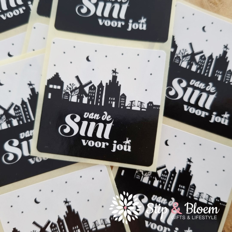 Sticker - Sint Skyline - per 20
