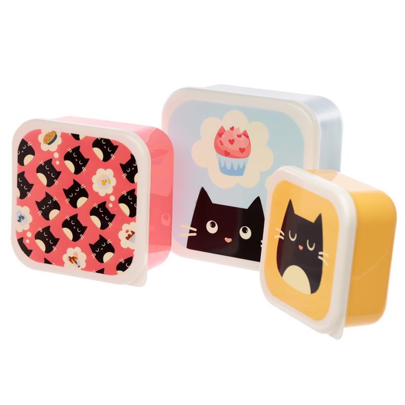 Lunchboxen set M/L/XL - Feline Fine kat