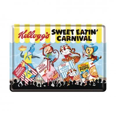 Metal postcard - Kellogg's Sweet Eatin' Carnival