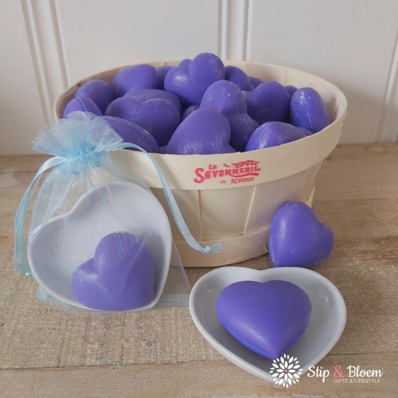 Hart zeepje - lavendel