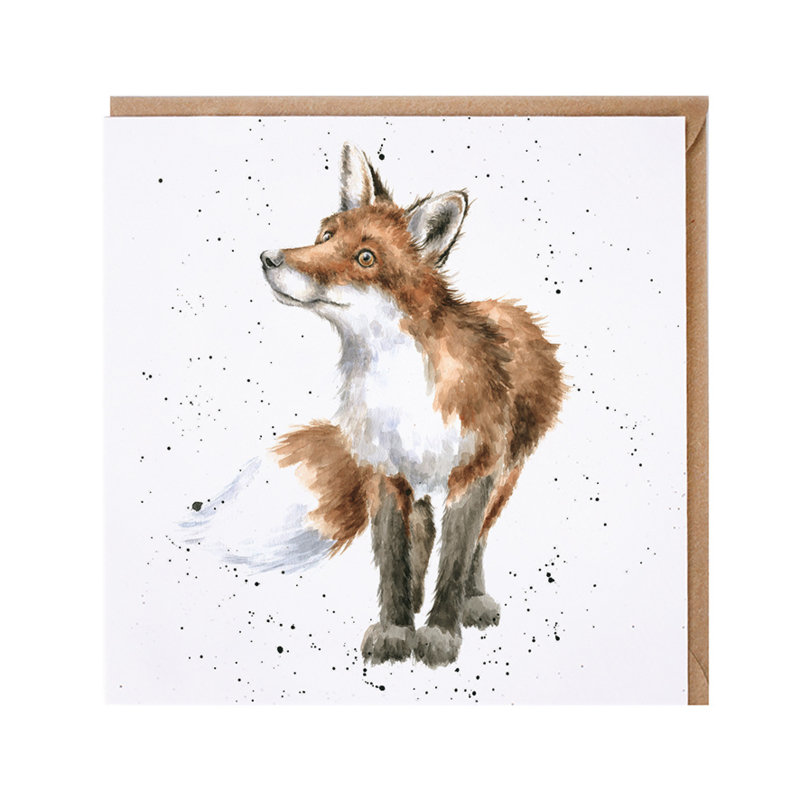 """Wrendale greeting card - """"Bright Eyed and Bushy Tailed"""" - vos"""