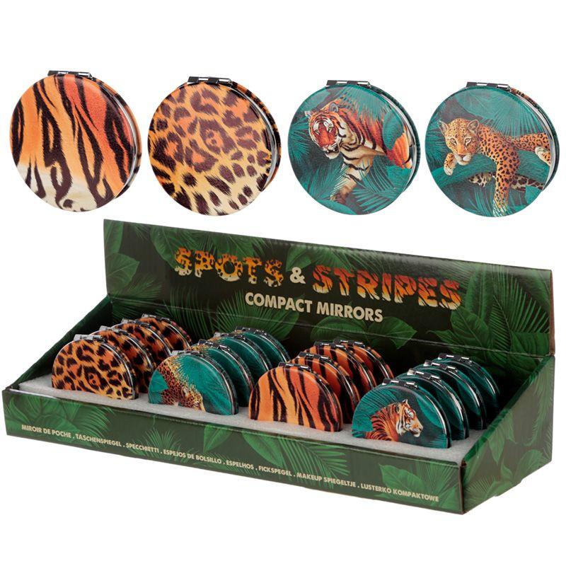 Compactspiegel - spots & stripes