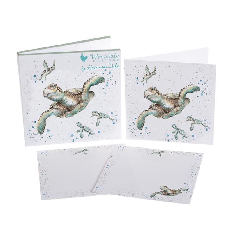 "Wrendale Notecard Pack ""Swimming School"" - schildpad"