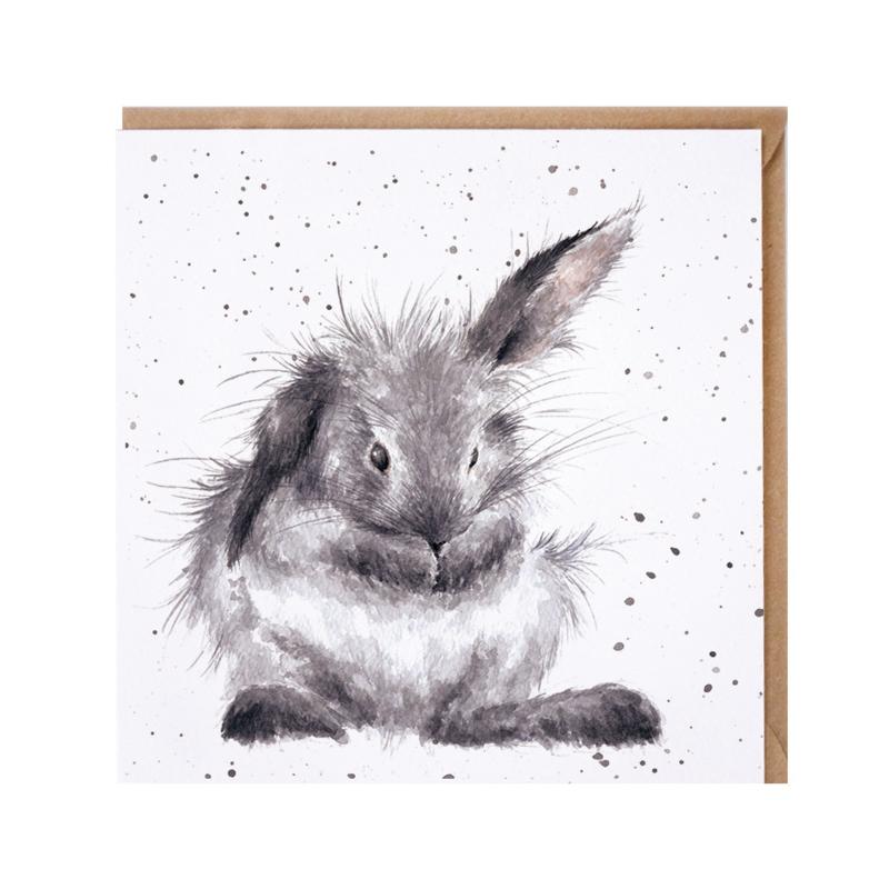 "Wrendale greeting card - ""Bath Time"" - konijn"