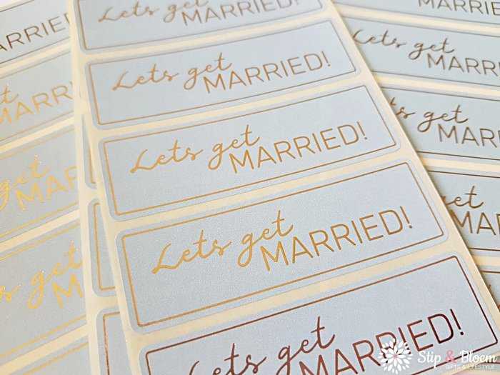 Sticker - lets get married! - per 20