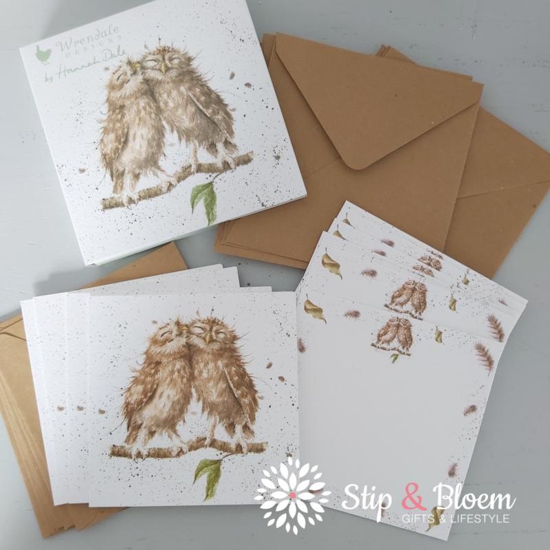 """Wrendale Notecard Pack """"Owl"""" - uil"""