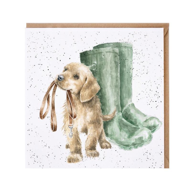 """Wrendale greeting card - """"Hopeful"""" - hond"""