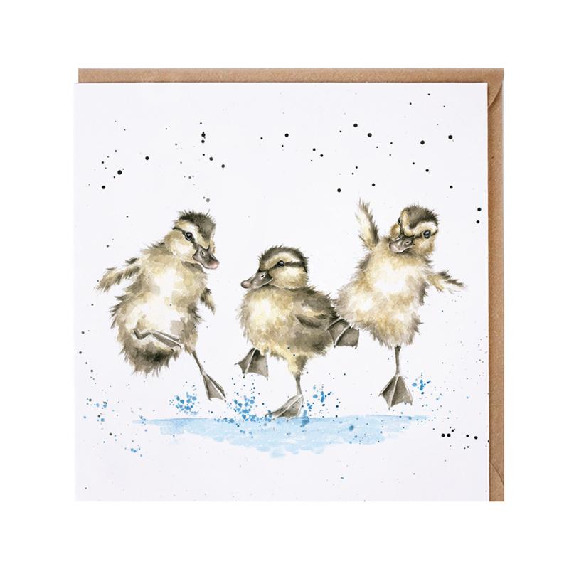 """Wrendale greeting card - """"Puddle Ducks"""" - eend"""