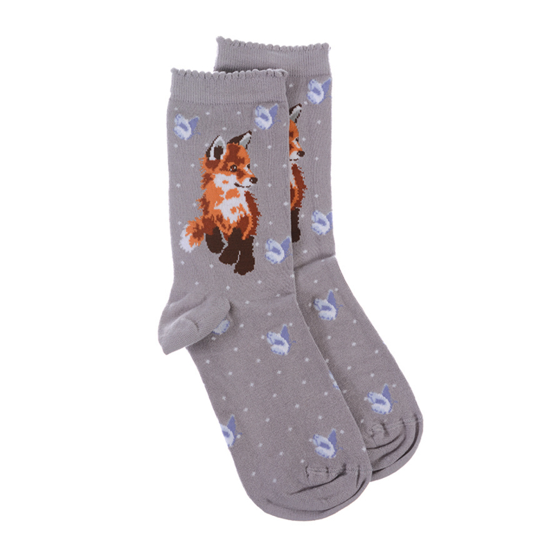 "Wrendale sokken ""Born to be Wild"" - vos"