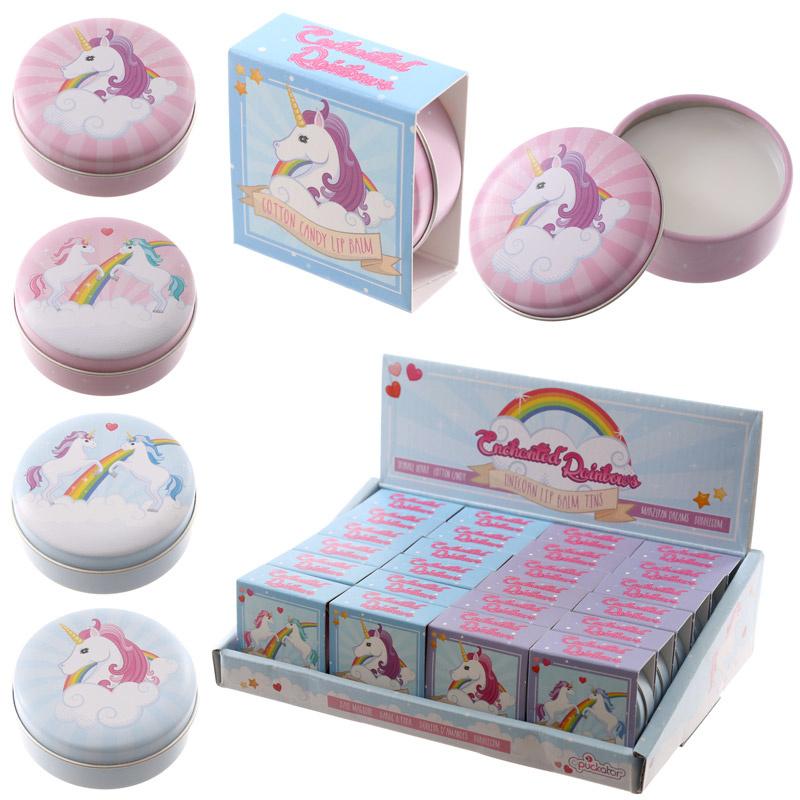 Lipbalm in blikje - unicorn