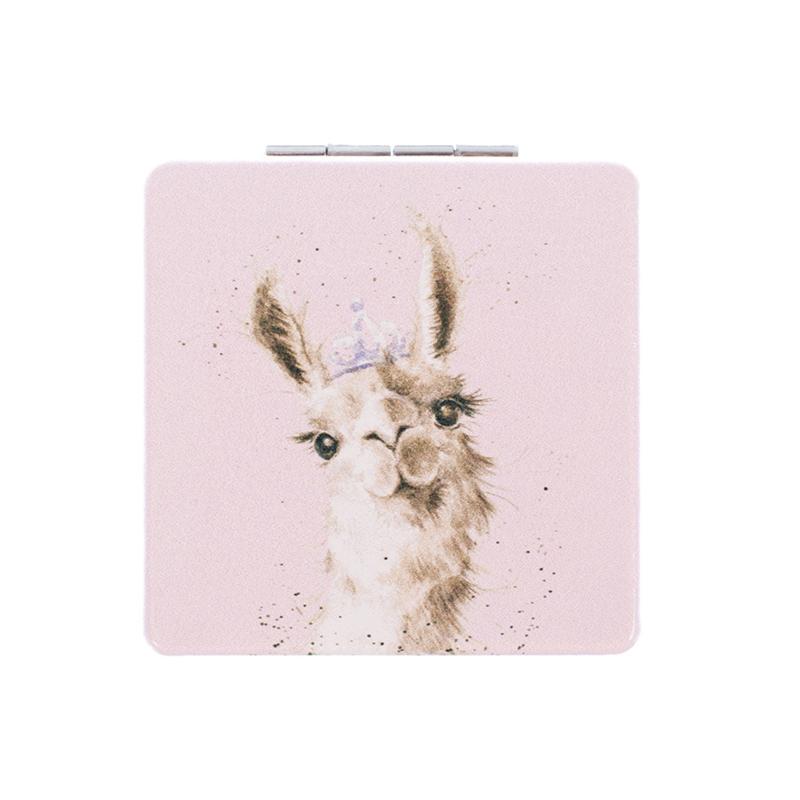 """Wrendale compactspiegel """"Llama Queen"""""""