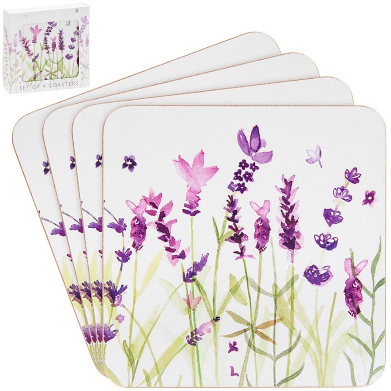 Purple Lavender onderzetters - set van 4