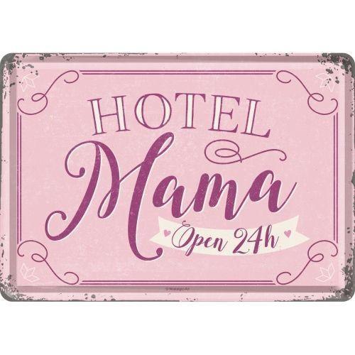 Metal postcard - Hotel Mama