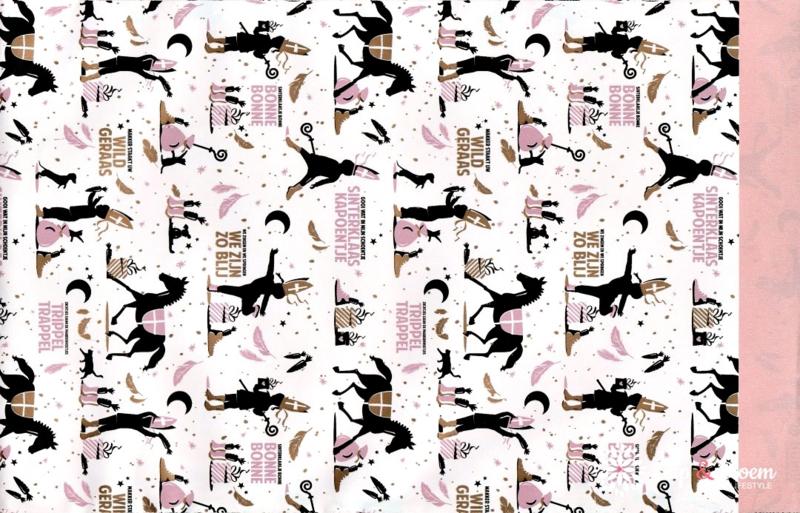 Sint zakje 17x25 Sint - roze - per 5