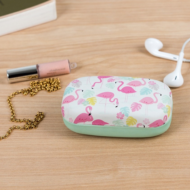 Mini travel case - flamingo bay
