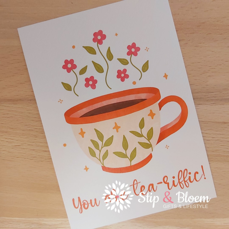 Ansichtkaart - You are tea-riffic!