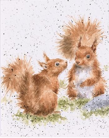 """Wrendale mini card """"Between Friends"""" - eekhoorns"""
