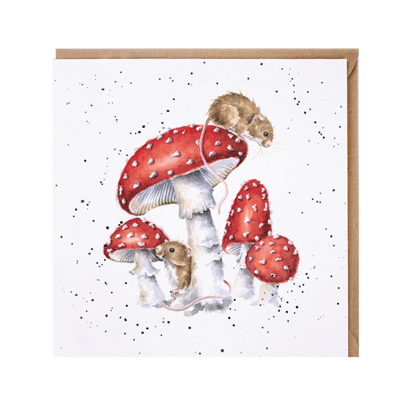"""Wrendale greeting card - """"The Fairy Ring"""" - muis"""