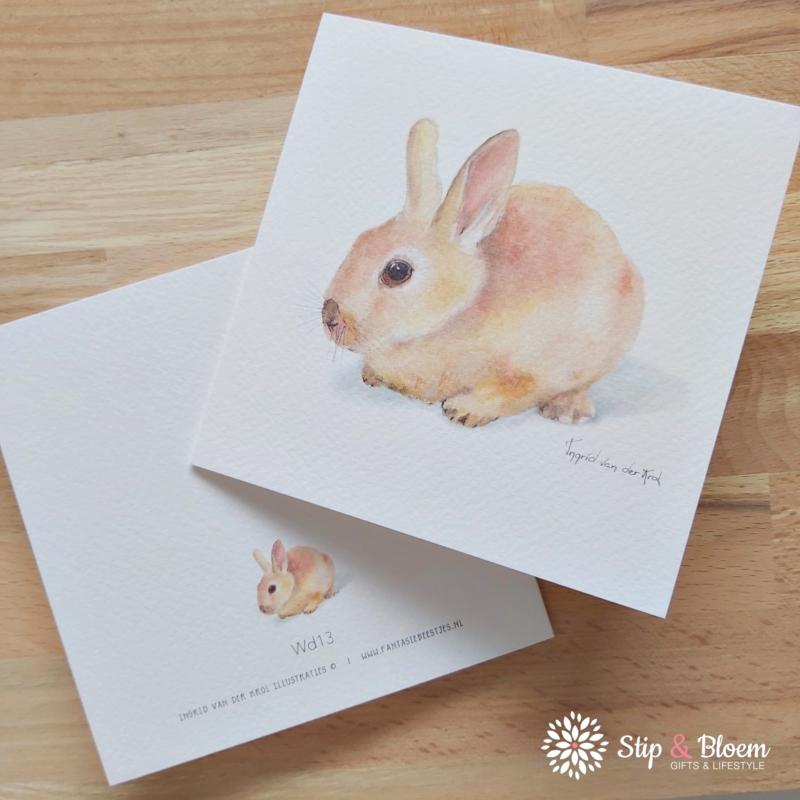 Dubbele kaart - konijn