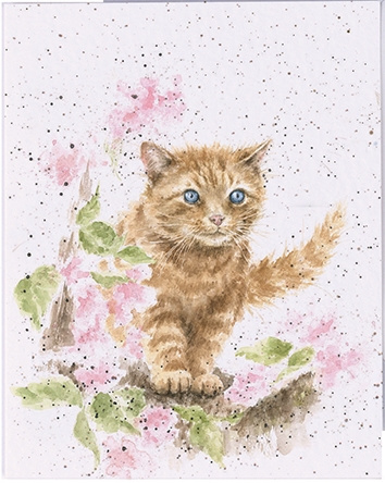 "Wrendale mini card ""Marmalade Cat"" - kat"