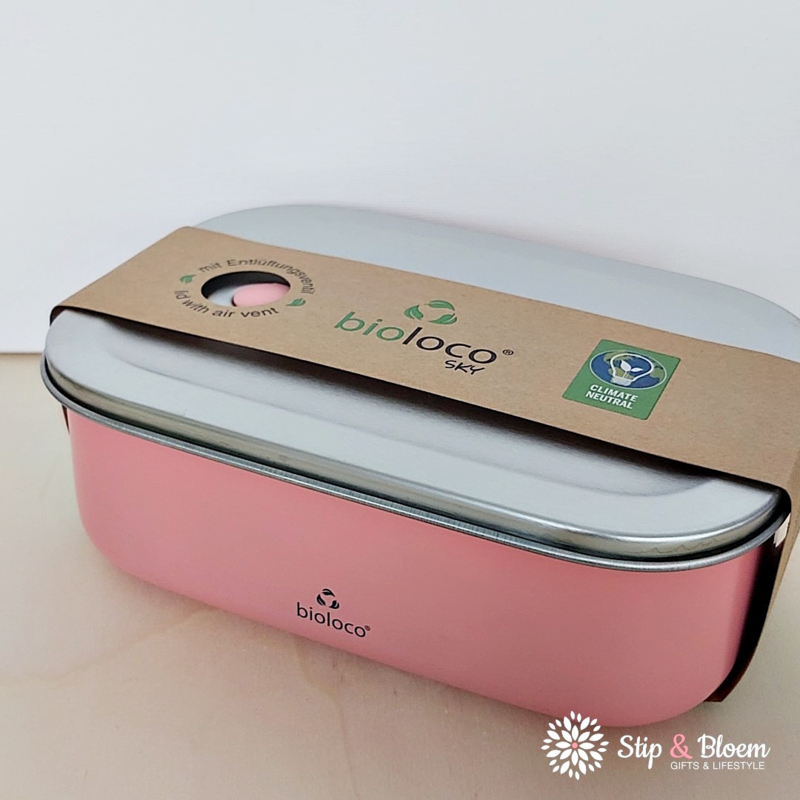 Bioloco Sky rvs lunchbox - Coral