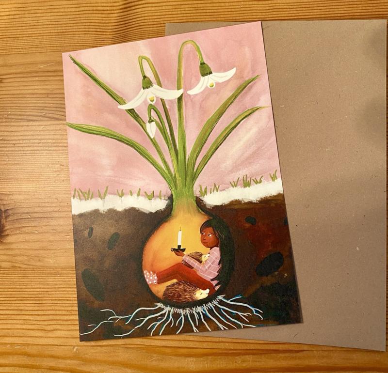 Esther Bennink kaart - Waiting for spring