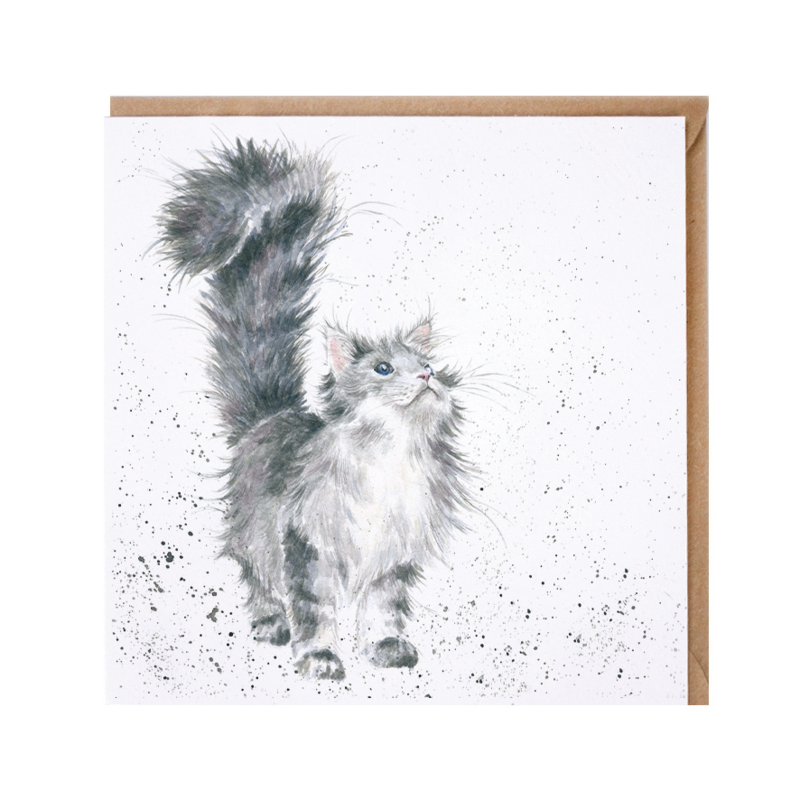 """Wrendale greeting card - """"Lady of the House"""" - poes"""
