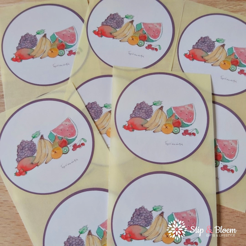 Sticker 45mm - fruit - per 10