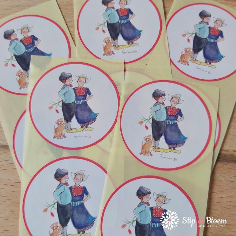 Sticker 45mm - boertje & boerinnetje - per 10