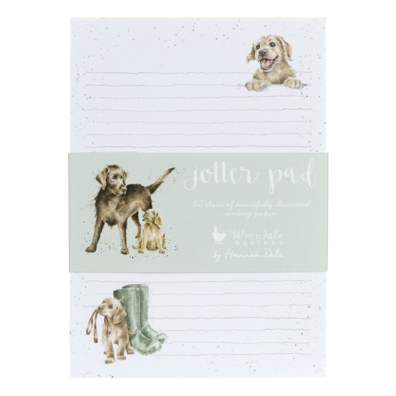 """Wrendale A5 Jotter Pad """"A Dog's Life"""""""