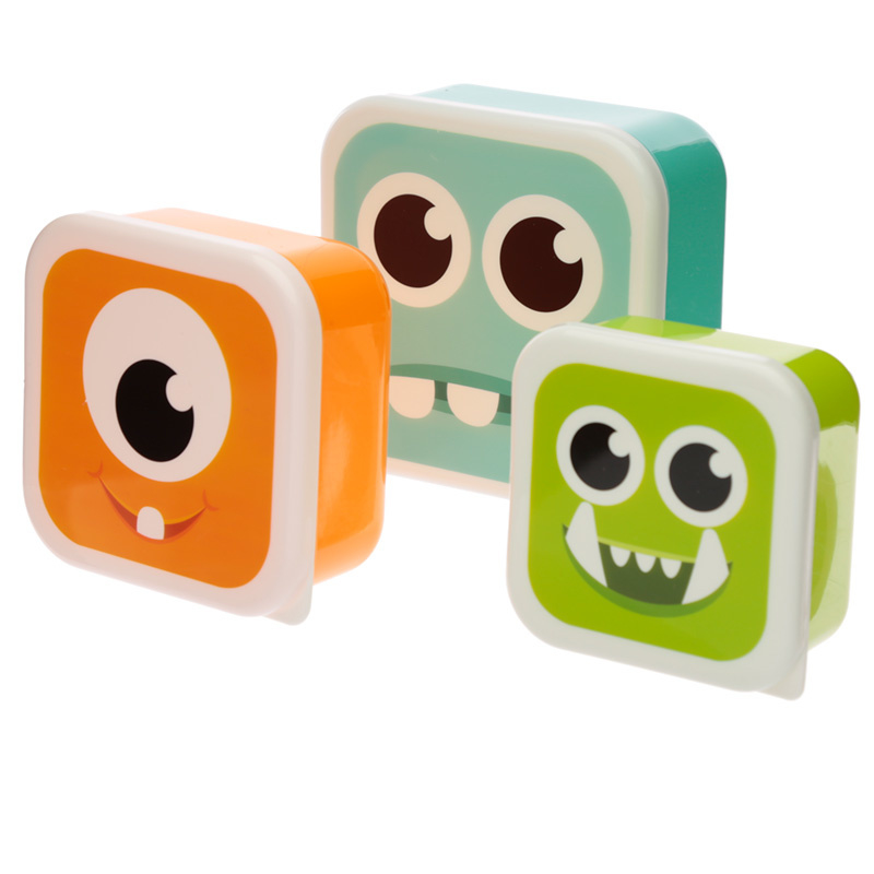 Lunchboxen set - monsters