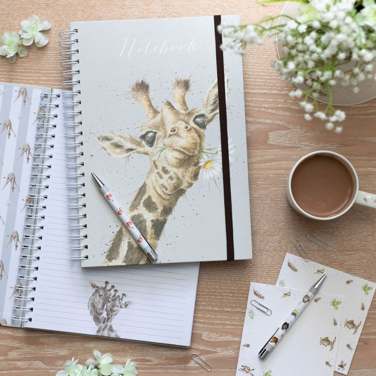 "Wrendale A4 Notebook ""Giraffe"""